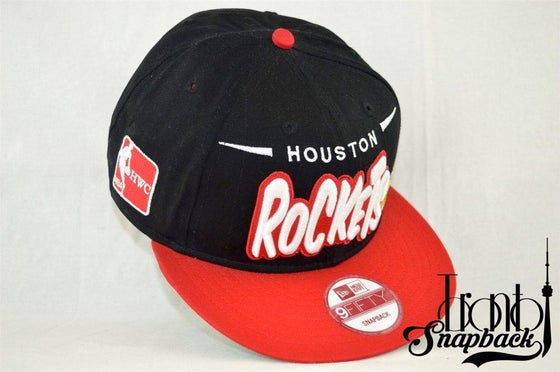 Image of Houston Rockets Bubble Script New Era 950 Snapback