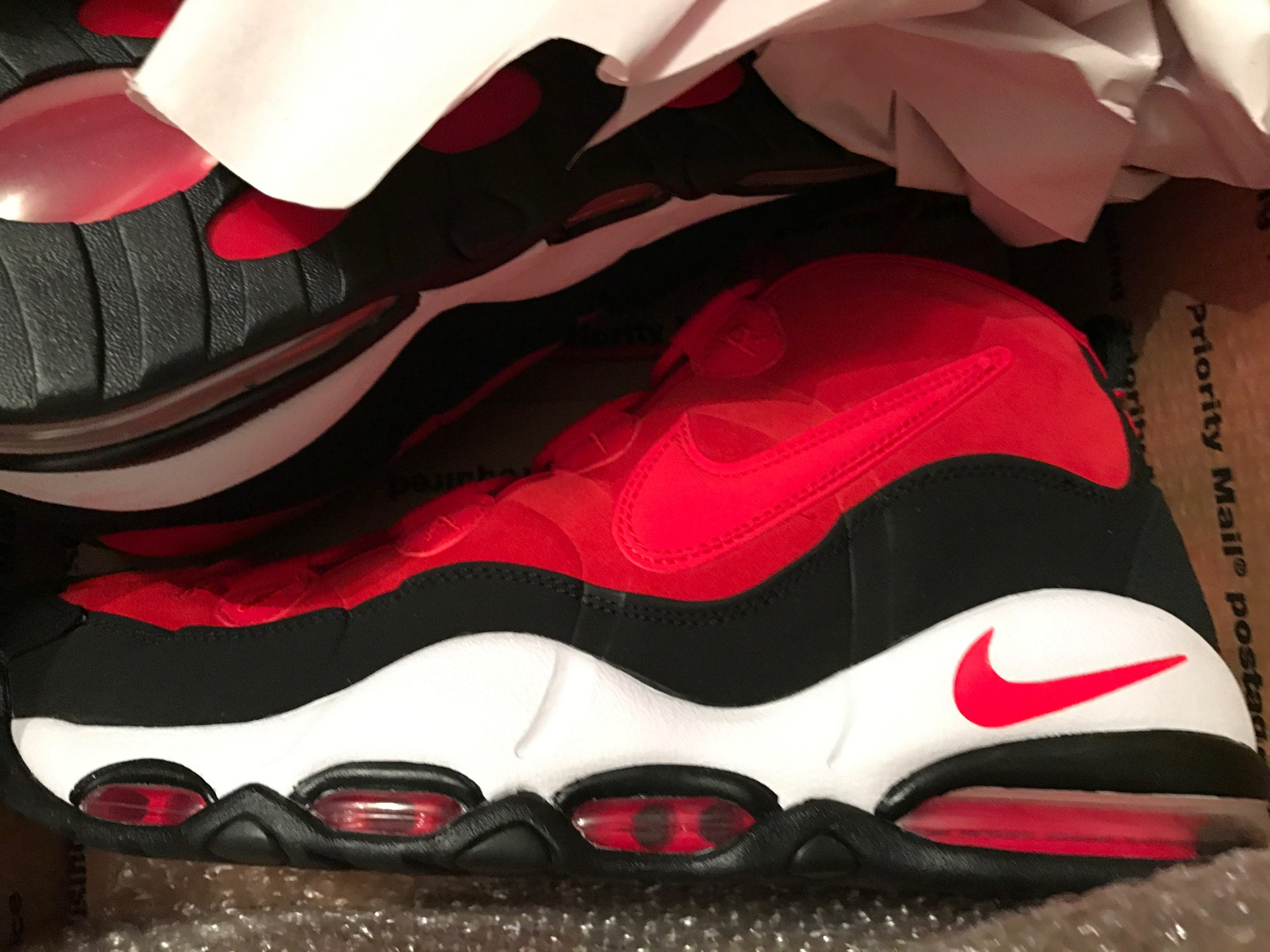 Image of NEW - Nike Air Max Uptempo Scottie Pippen - Red - No Box
