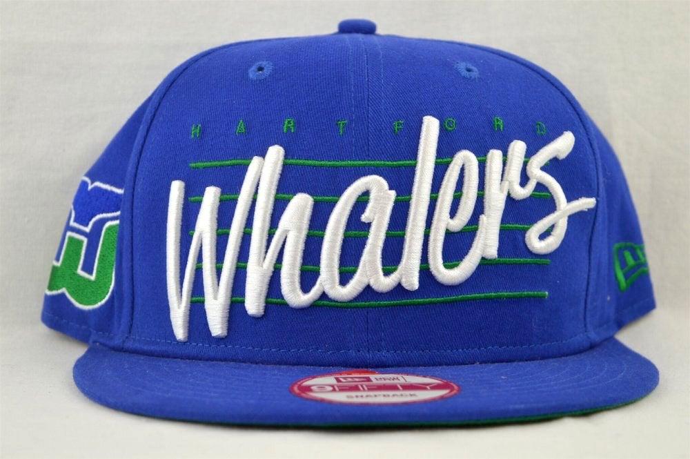 Image of Hartford Whalers Blue New Era 950 Snapback
