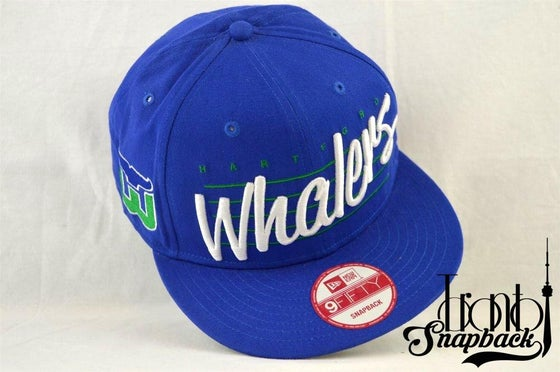Image of Hartford Whalers Blue New Era 950 Snapback