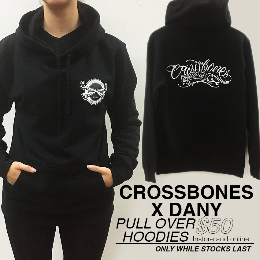 """Image of NEW! Pull-over Hoodie """"Crossbones Gallery x DANY"""""""