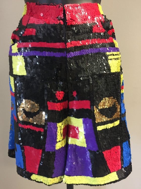 Image of VTG CRAYOLA COLOR BLOCK ROCKDOLL SHORTS S/M