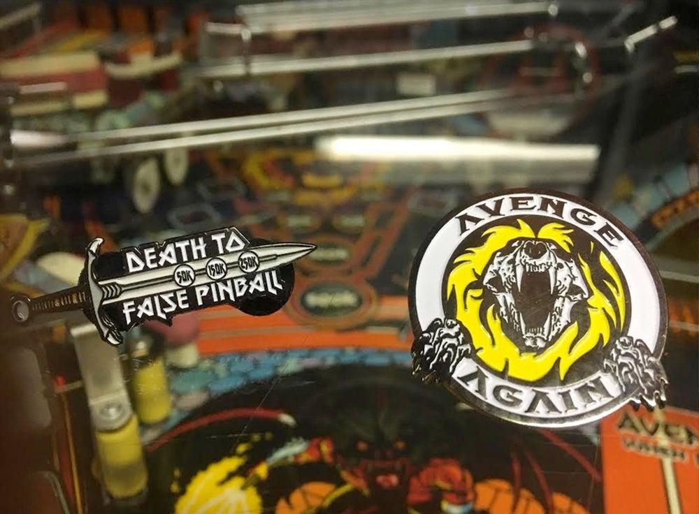 Image of Death To False Pinball Pin