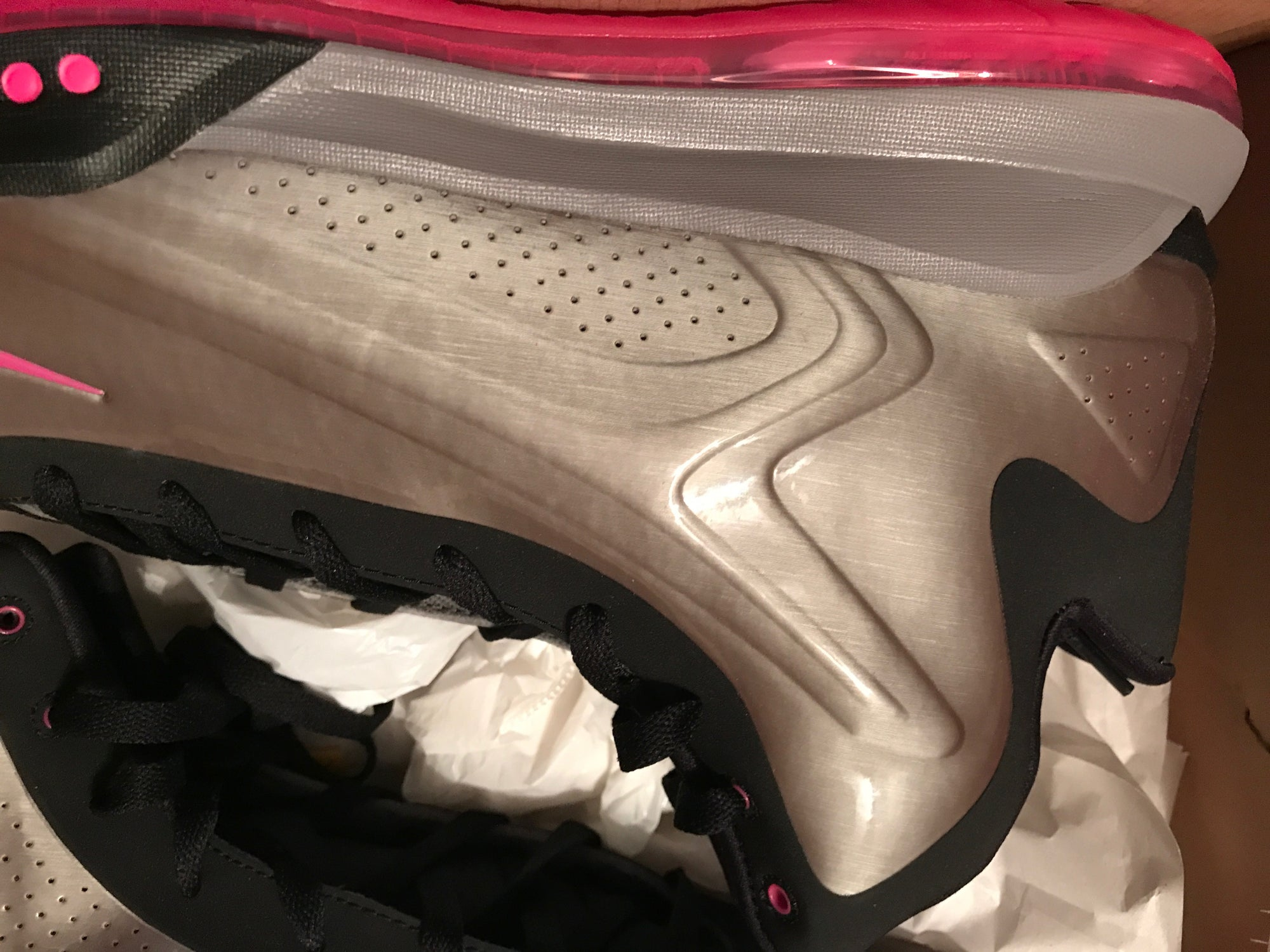 Image of New - Nike Hyperflight Max Pewter Gray Basketball Shoes