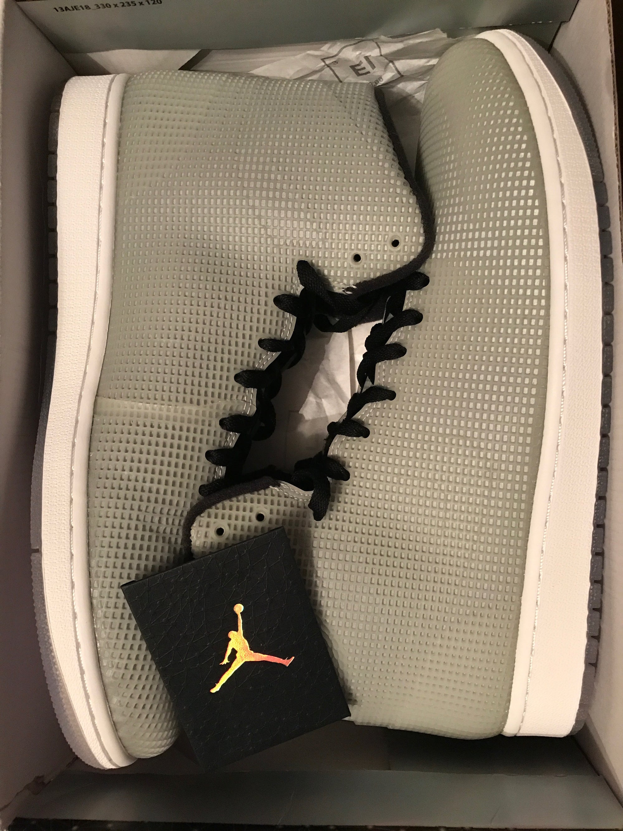 Image of AIR JORDAN 4LAB1 GLOW REFLECTIVE BLK WHITE Size 12.5 New