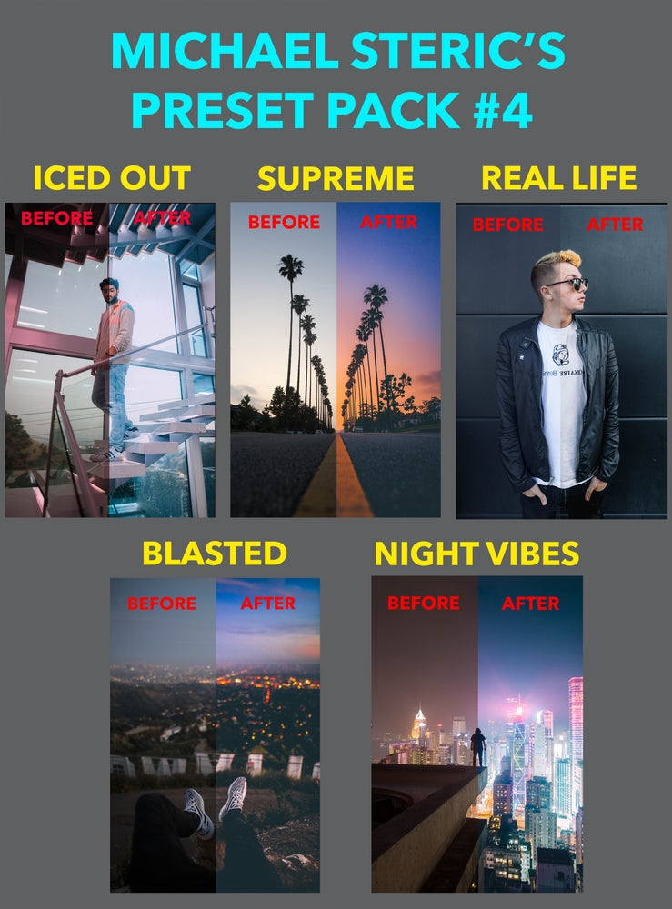 Image of MICHAEL STERIC PRESET PACK #4 - 5 PRESETS INCLUDED