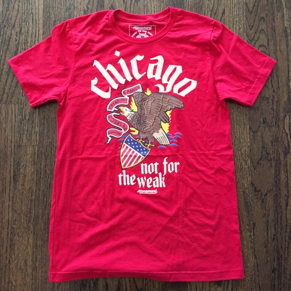 "Image of The ""Chicago - Not For The Weak"" Tee in Red"