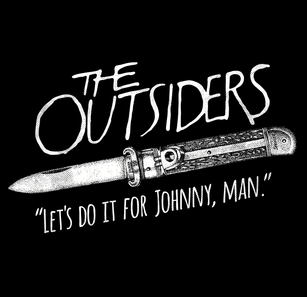 """Image of The Outsiders """"Let's Do It For Johnny, Man."""" T shirts"""