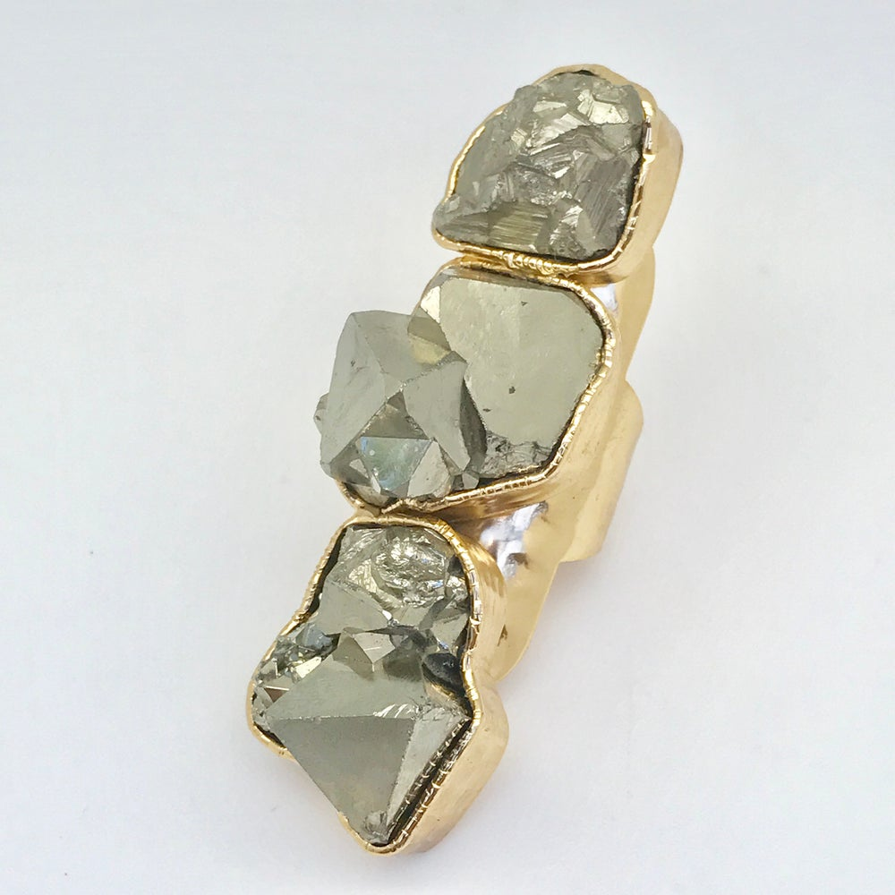 Image of Triple Pyrite Ring