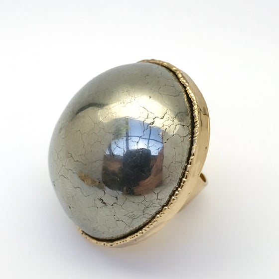Image of Mirrored Pyrite Ring