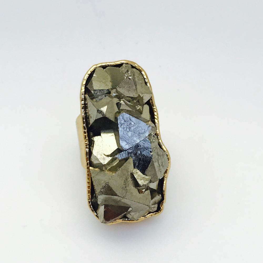 Image of Large Single Pyrite Ring