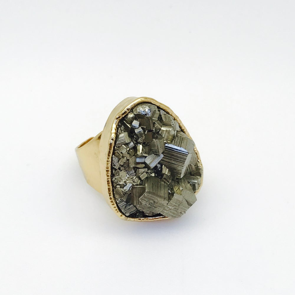 Image of Medium pyrite ring