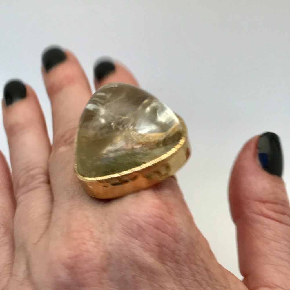 Image of Moss Quartz Ring