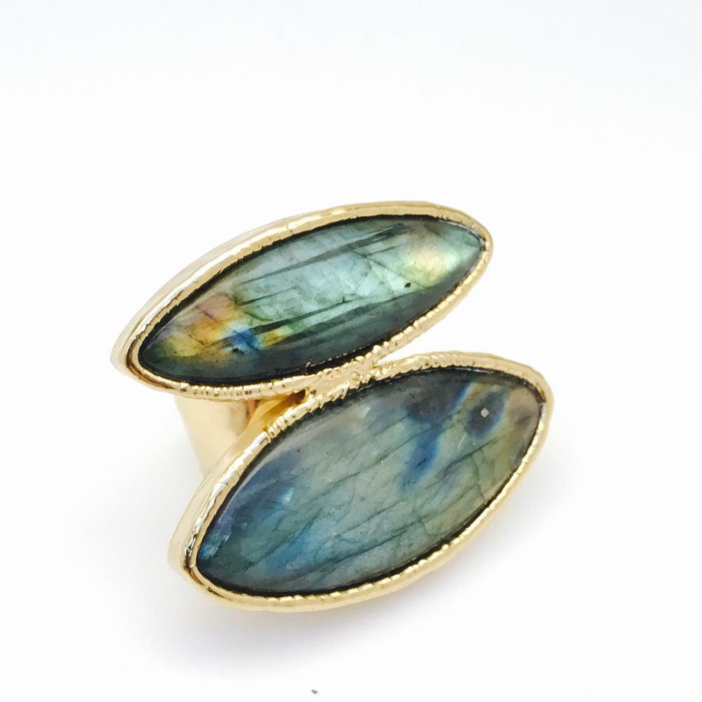 Image of Double Labradorite Ring