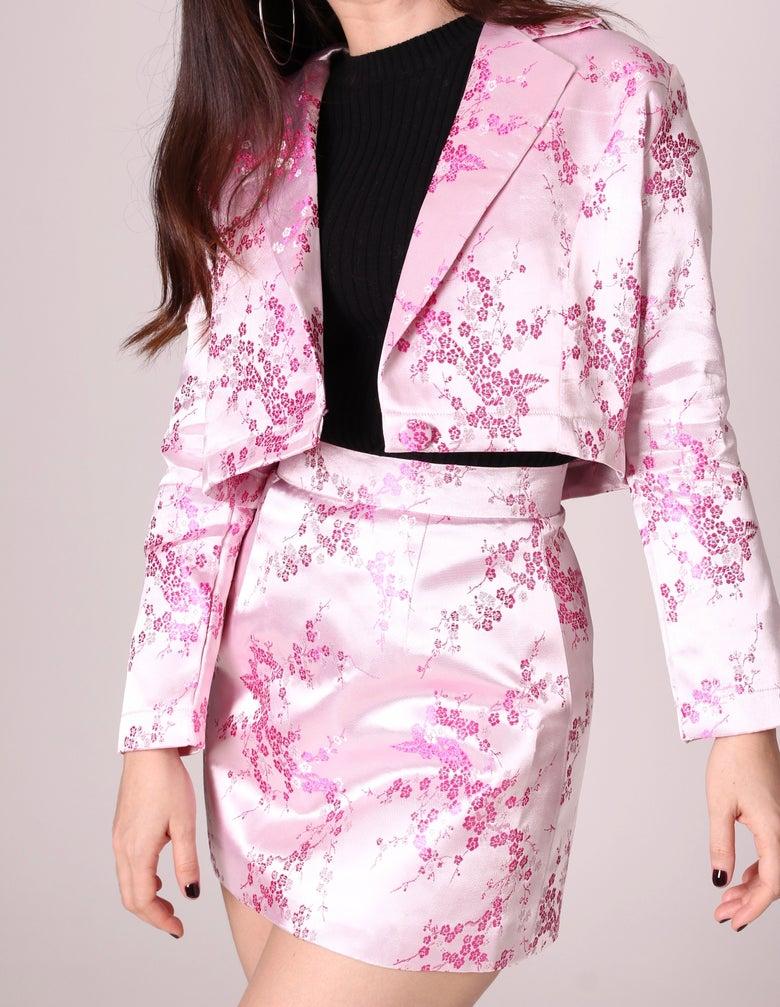 Image of Fran Blazer Set in Pink Sakura