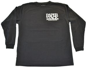 Image of NEW! Paperstack Apparel 'PS. Mono Grams' Long Sleeve Tshirt (White/Black)