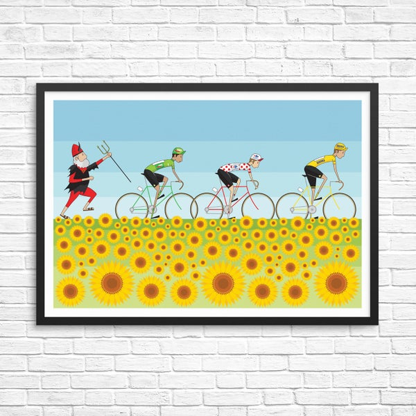 Image of Tour de France Sunflowers Print