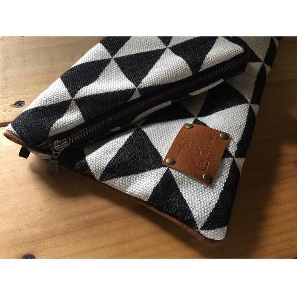 Image of Chenille Envelope Clutch + Wristlet Strap