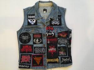 Image of Vintage Metal Jean Jacket Vest