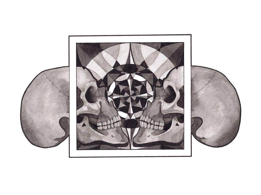 Image of Skull Mandala series - Reflection