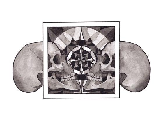 Image of Skull Mandala series - Reflection
