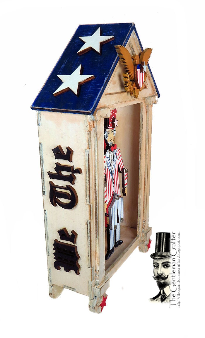 Image of Uncle Sam Wood Puppet Vignette Kit