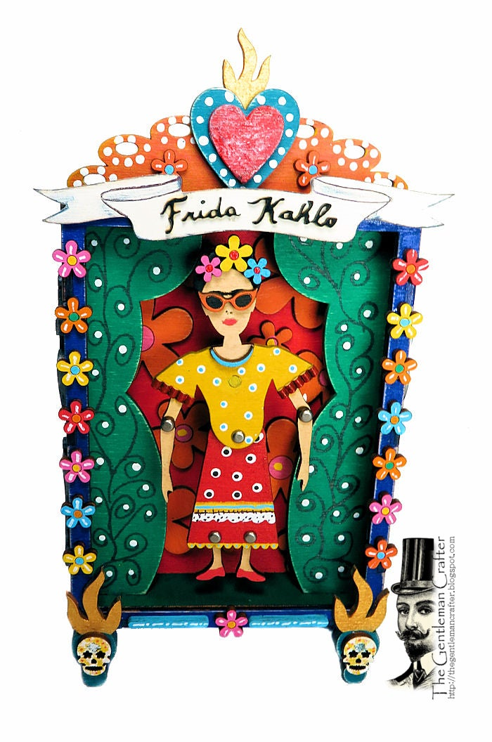 Image of Frida Kahlo Puppet Vignette Kit