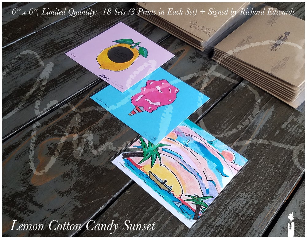 Image of Lemon Cotton Candy Sunset Set (3 Prints) — 1 Print in Each Set Signed by Richard Edwards