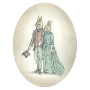 Image of Couple Courting 8x10 print