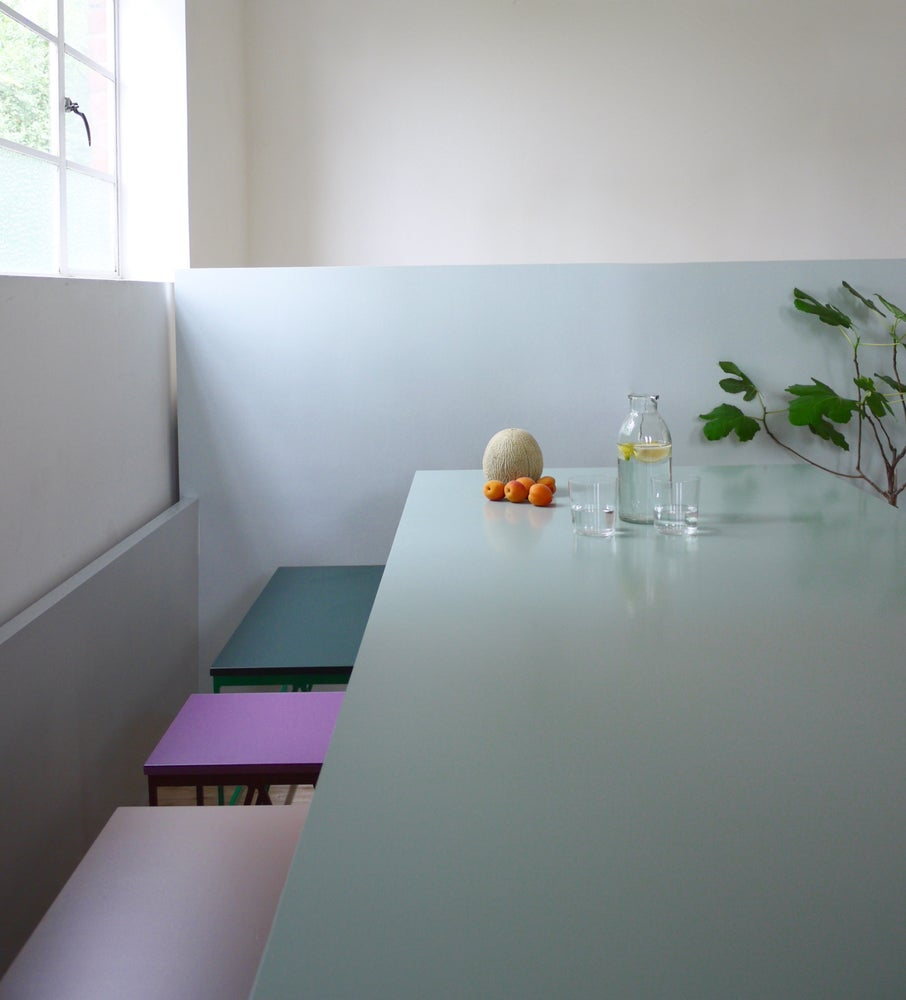 Image of Colour Play Dining Table in Eucalyptus Green