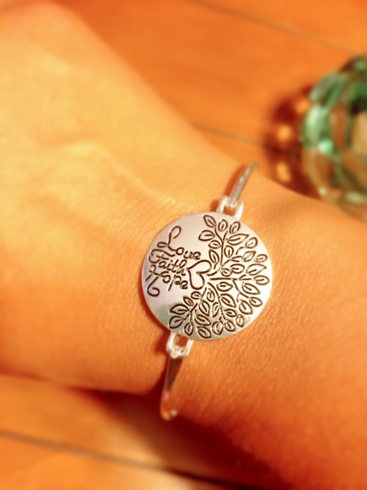 Image of Faith Hope Love Tree Bracelet
