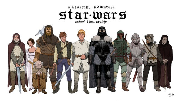 Image of Star Wars Medieval (colored)