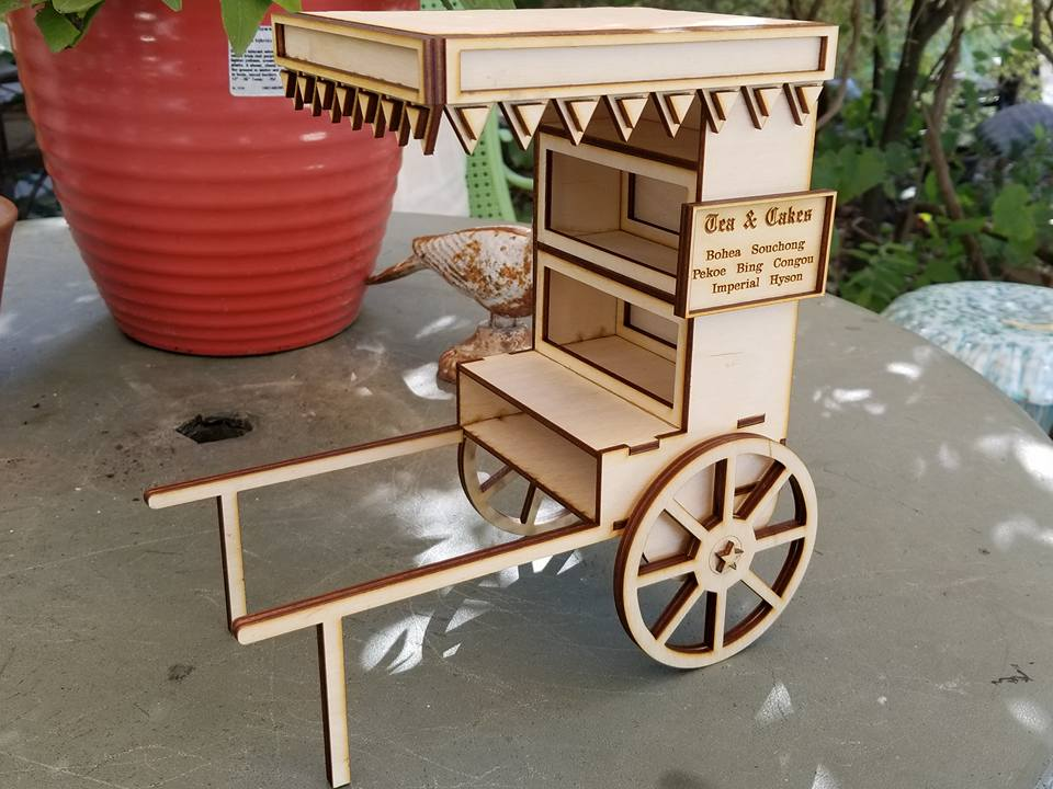 Image of Vintage Tea and Cakes Cart Wood Kit