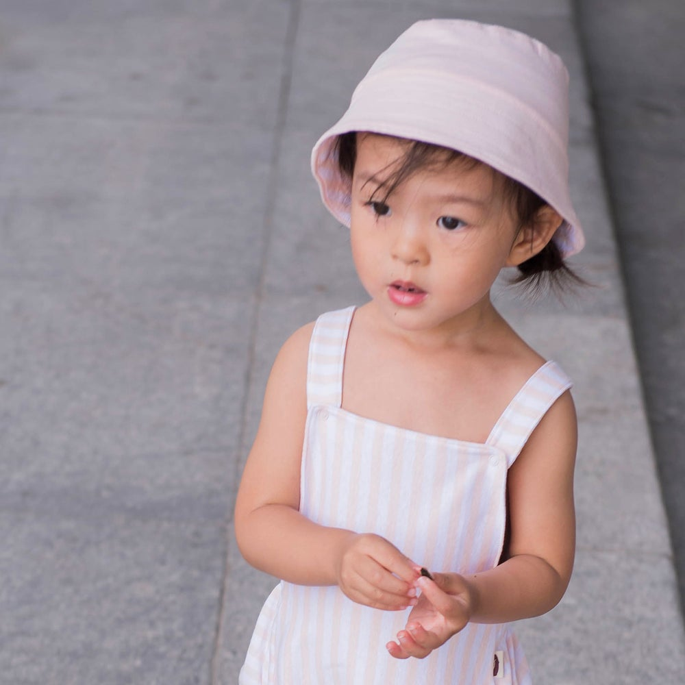 Image of Shade Me Reversible Sunhat . Pink Stripe