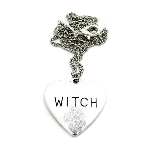 Image of 'Witch' Heart Necklace
