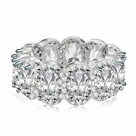 Image of Lustre Sterling Silver Eternity Band