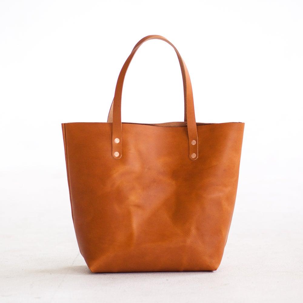 Image of Tan Italian Leather Tote