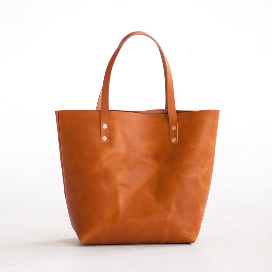 Image of Tan Italian Leather Tote