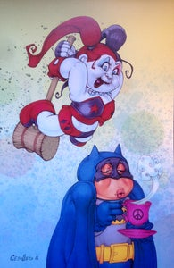 Image of Harley Quinn / Batman print....