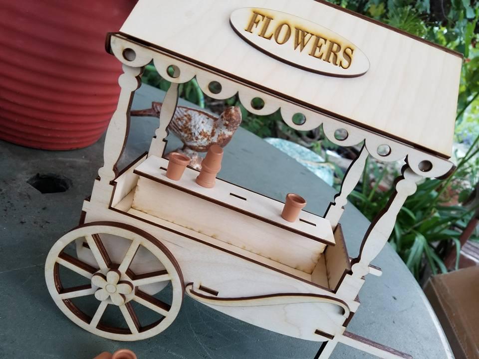Image of Vintage Flower Cart Wood Kit