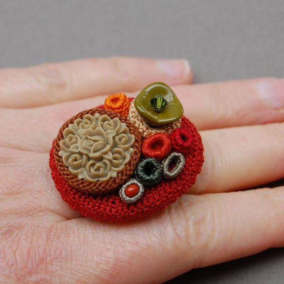 Image of Bouquet ring - Fall colours