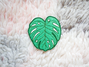 Image of Monstera Leaf Iron-On Embroidered Chenille Patch