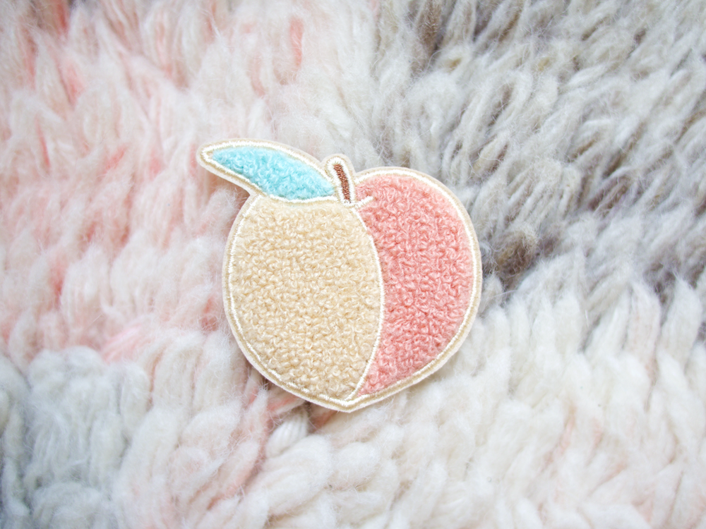 Image of Feeling Peachy Iron-On Embroidered Chenille Patch