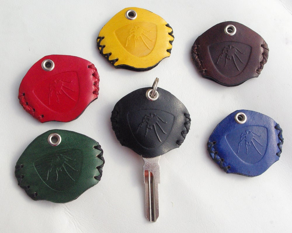 Image of Can-Am Spyder Leather Key Protector Fobs