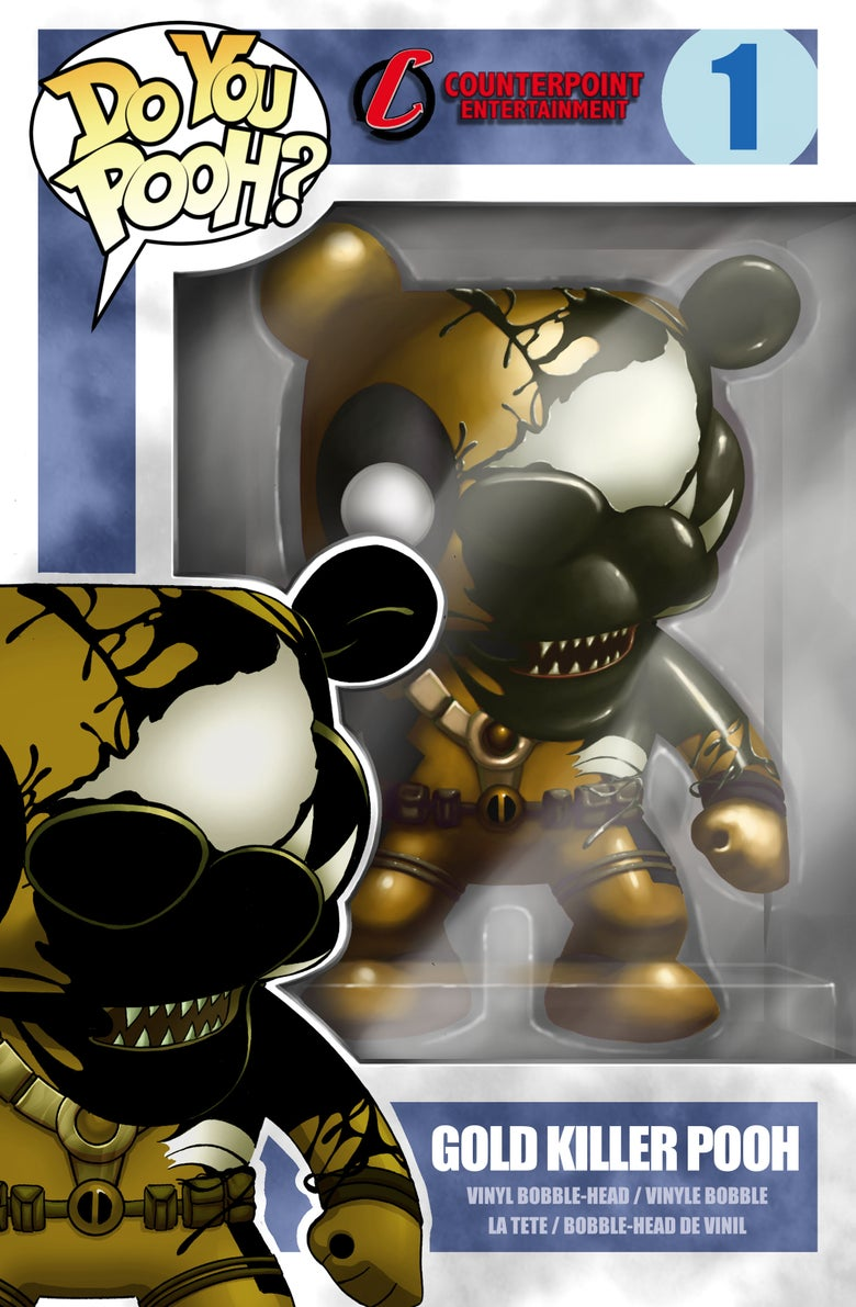 Image of Do You Pooh Funko Pop Venomized Cover Swipe GOLD CHROMIUM SDCC 17 Exclusive