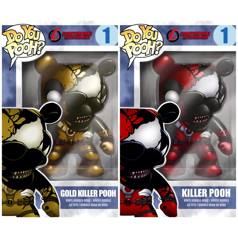 Image of Do You Pooh Funko Pop Venomized Cover Swipe SET SDCC 17 Exclusive