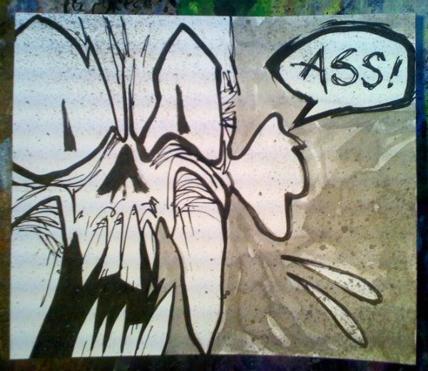 Image of 'Swearing Skullz: Ass' Original Painting