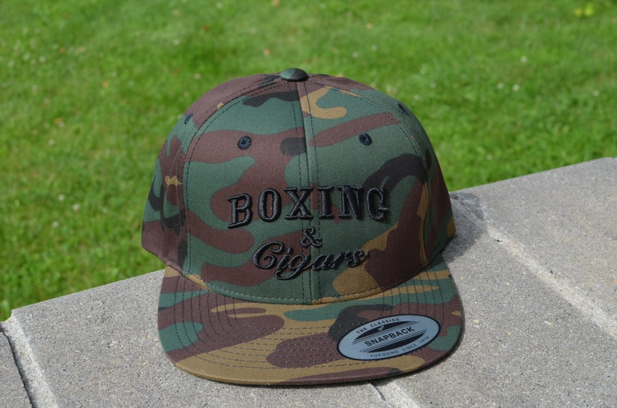 Image of Limited Edition CAMO Boxing and Cigars SnapBacks