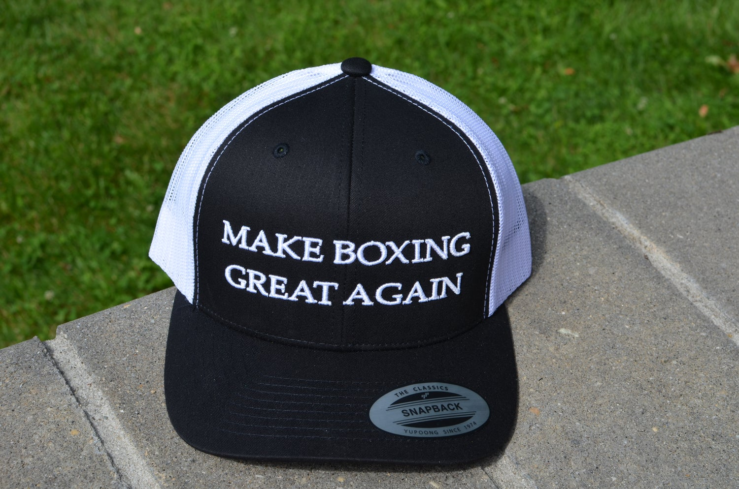 Image of Black Make Boxing Great Again Trucker Snapbacks