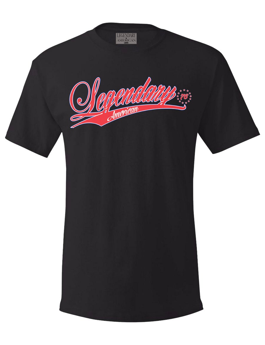 Image of Legendary American 76er Tee in black